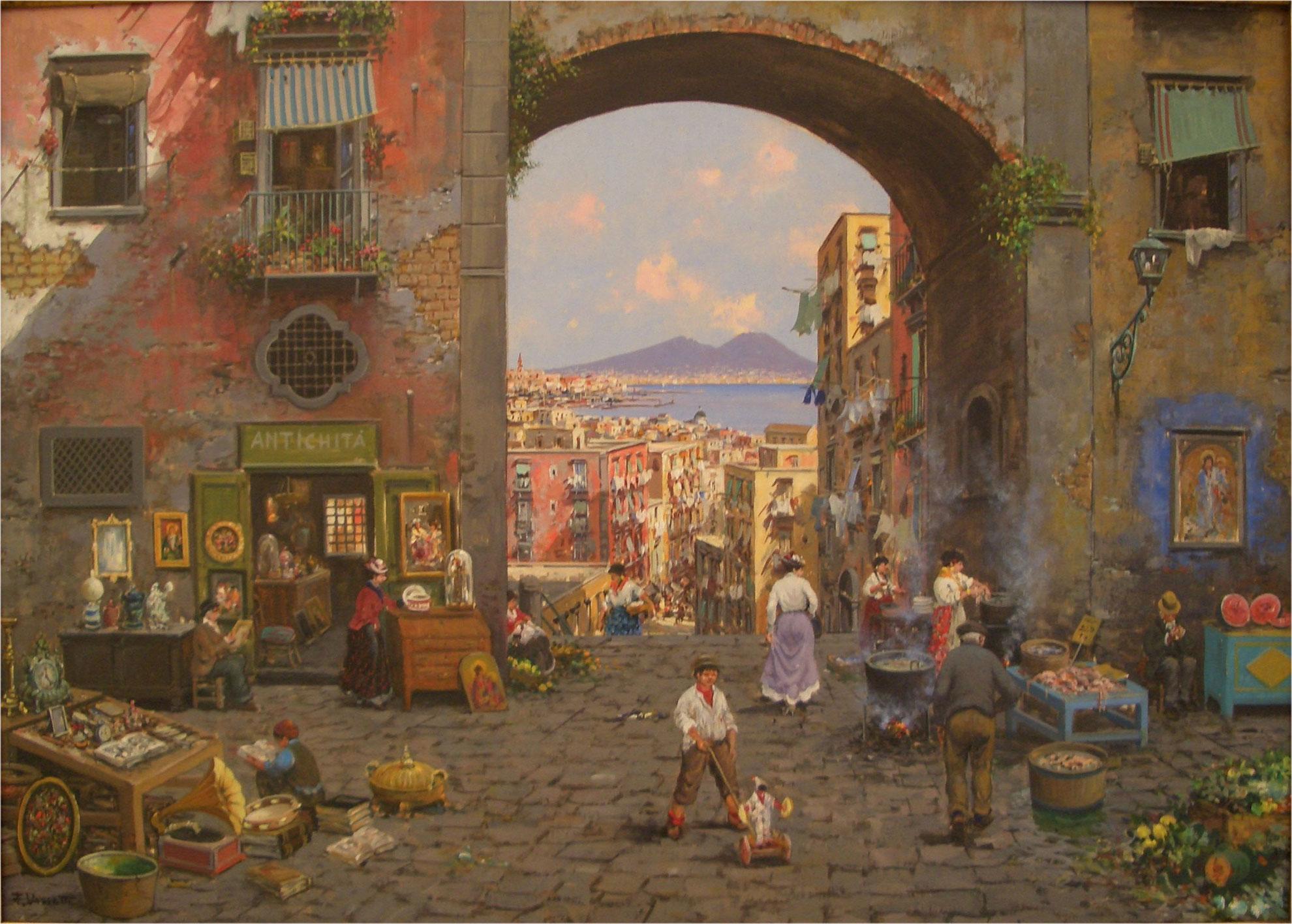 Francesco Vassetti - Scalinata di Montecalvario - 50x70